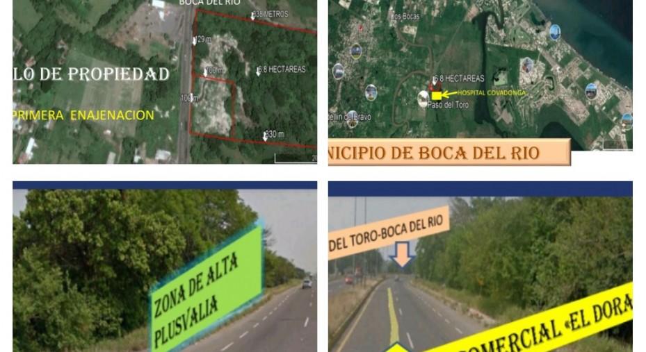 TERRENO DE 6.8 HECTÁREAS JUNTO AL HOSPITAL COVADONGA BOCA DEL RIO, VER